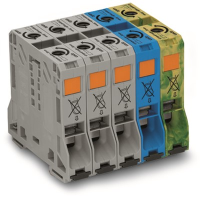 WAGO THREE PHASE SET FOR 50mmCURRENT BL